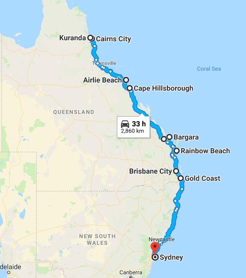 Itineraire Stop Australie