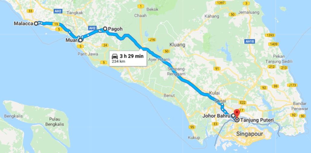 Itineraire Stop Malaisie